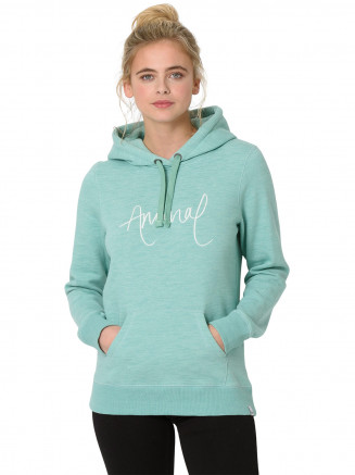 Womens Sketched Hoody Green