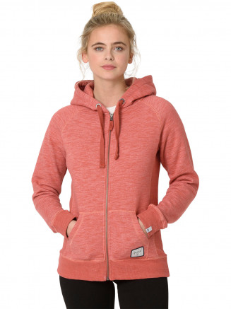 Womens Roo Zip Hoody Red
