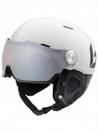 Mens Womens Might Visor Premium Helmet White