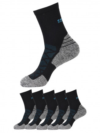 Crew Socks x5 Pack Black