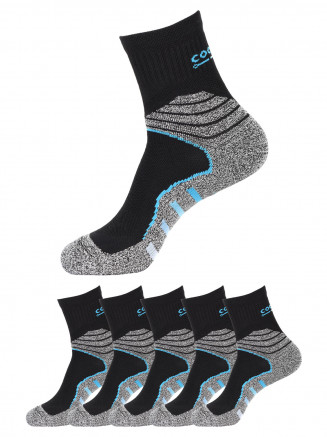 Quarter Socks x5 Pack Black