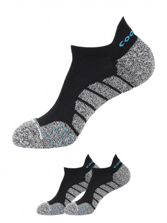 Cushion Ankle Socks x2 Pack Black