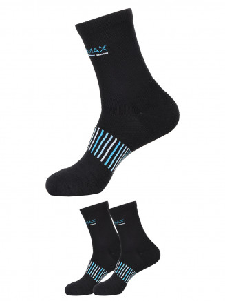 Cushion Quarter Socks x2 Pack Black