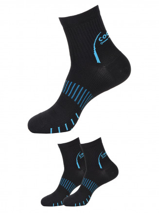 Quarter Socks x2 Pack Black