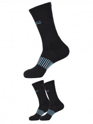 Cushion Crew Socks x2 Pack Black