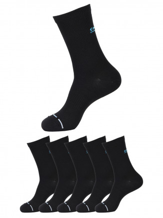 Ankle Socks x5 Pack Black