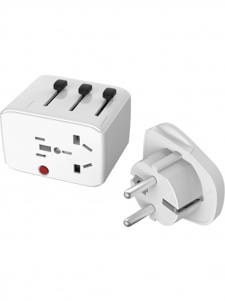 No Gender Travel Adaptor No Colour