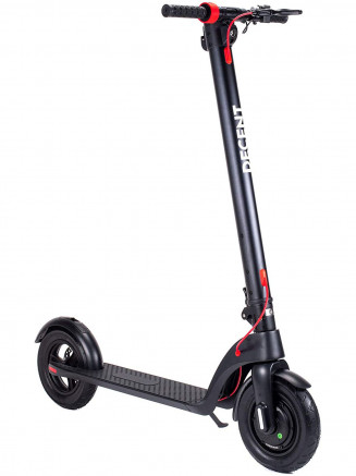 "Mens Womens X7 Scooter With 10"" Tyres Black"