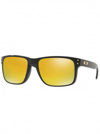 Mens / Womens Holbrook Sunglasses Polished Black - 24K Iridium Lens