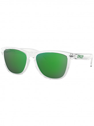 Mens / Womens Frogskins Sunglasses Crystal Clear - Prizm Jade Iridium Lens
