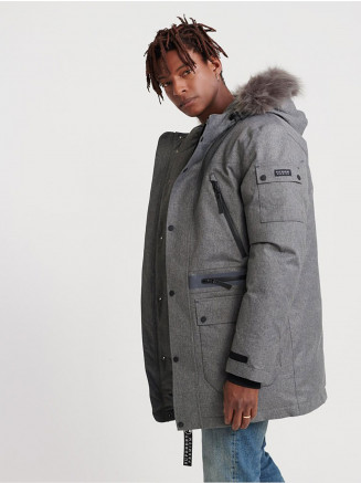 Mens Waterproof Premium Ultimate Down Parka Grey