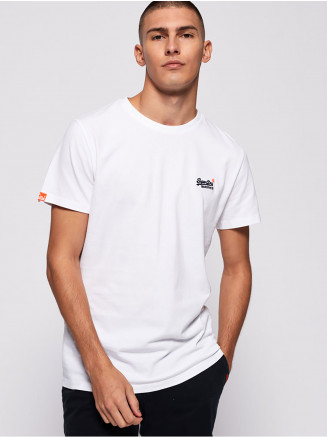 Mens Orange Label Vintage Emb Tee White