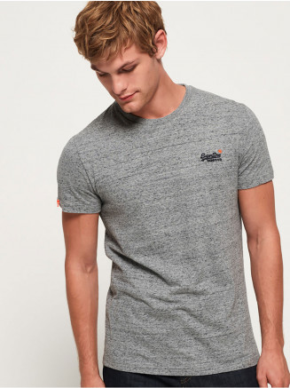 Mens Orange Label Vintage Emb Tee Grey