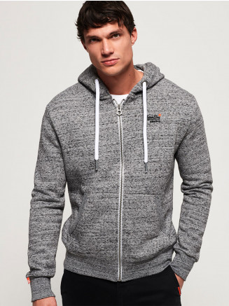 Mens Orange Label Ziphood Grey