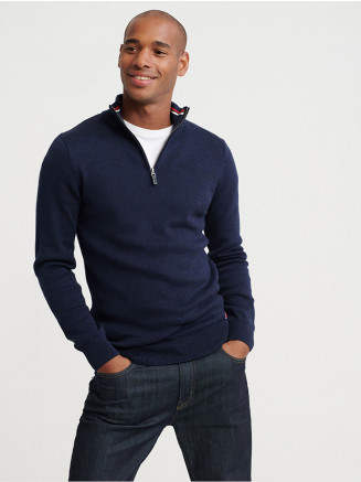 Mens Downhill Racer Henley Blue