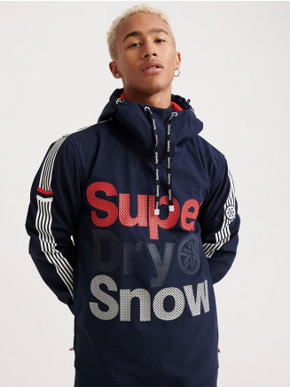 Mens Snow Tech Combat Hood Blue