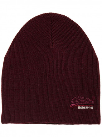 Mens Orange Label Beanie Brown