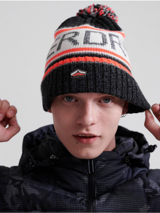 Mens Logo Beanie Orange
