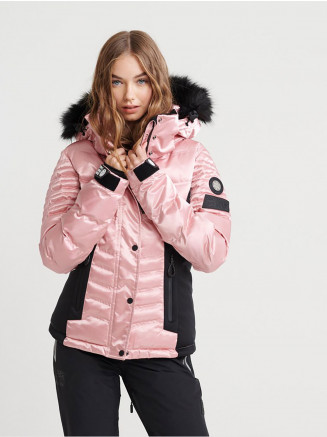 Womens Luxe Snow Puffer Pink