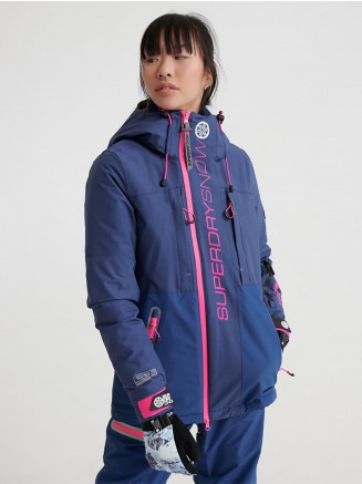 Womens Slalom Slice Ski Jacket Blue