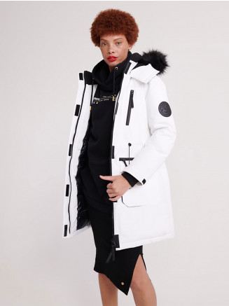 Womens Aiko Everest Icon Parka White