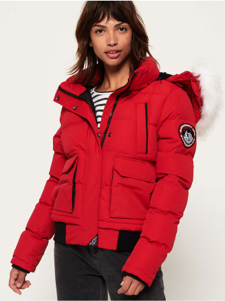 Womens Everest Ella Bomber Red
