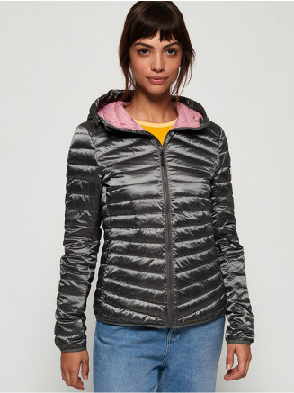 Womens Hyper Core Down Jacket Grey