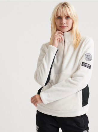 Womens Storm Fleece Midlayer 1/2 Zip White