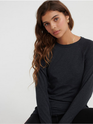 Womens Merino Baselayer Crew Black