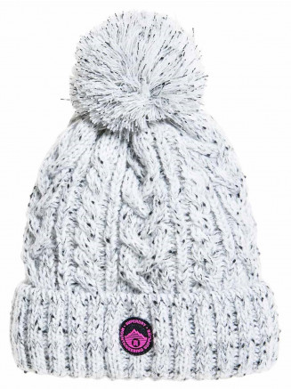 Womens Gracie Cable Beanie Grey