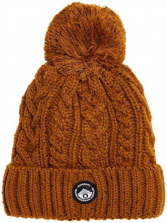 Womens Gracie Cable Beanie Yellow