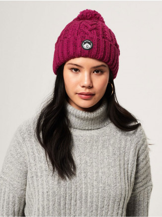 Womens Gracie Cable Beanie Pink