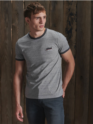 Mens Ol Ringer T-shirt Grey