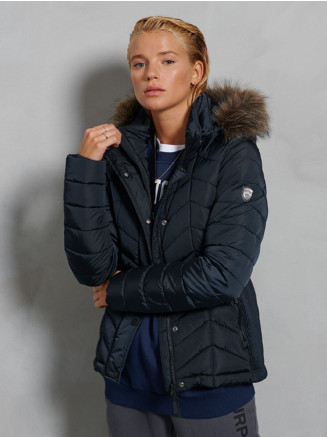 Womens Luxe Fuji Padded Jacket Blue