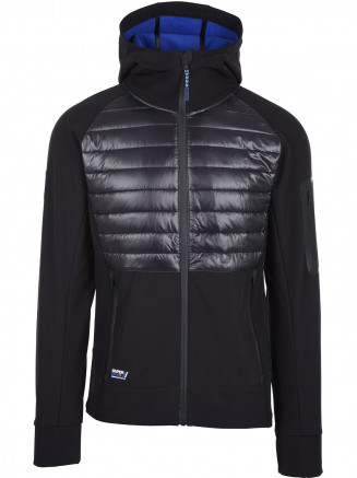 Mens Mountain Softshell Hybrid Black