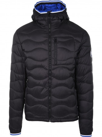 Mens Wave Quilt Jacket Black