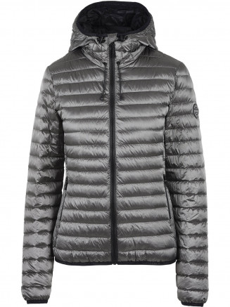 Womens Core Down Hooded Jacket Grey