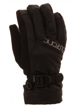 Girls Cushy Surftex Glove Black