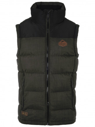 Mens Trapper Insulated Gilet Green