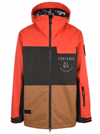 Mens Raider Hypadri Ski Jacket Orange
