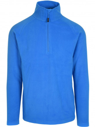 Mens Thermal Zip Micro Fleece Blue