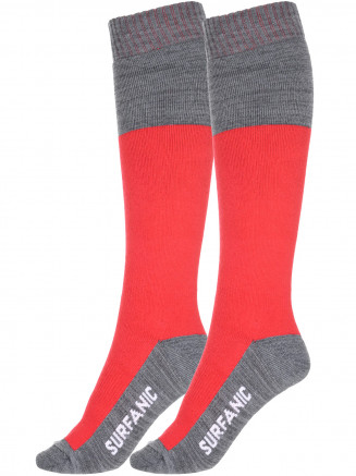Mens Freeride Pro Tech 2 Pack Sock Red