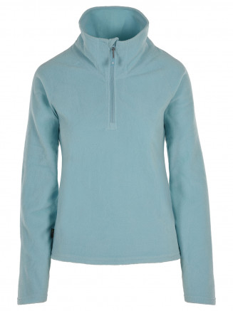 Womens Recycled  Warm Zip Micro Fleece Blue
