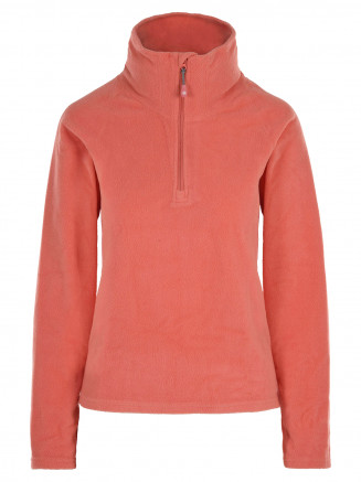 Womens Recycled Warm Zip Micro Fleece Pink