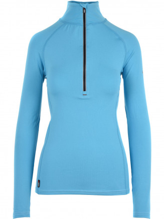 Womens Cozy Zip Neck Blue