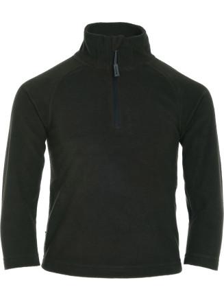Boys Thermal Zip Micro Fleece Green