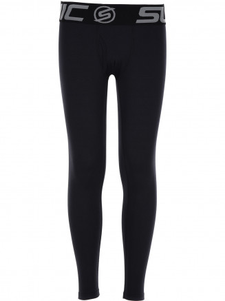 Boys Bodyfit Long Johns Black
