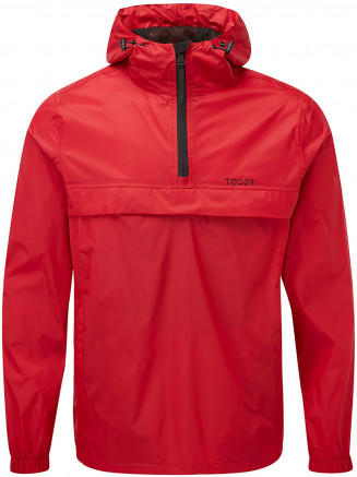 Mens Craven Waterproof Packaway Overhead Red