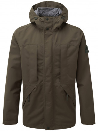 Mens Dawson Long Waterproof Jacket Green