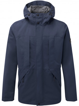 Mens Dawson Long Waterproof Jacket Blue